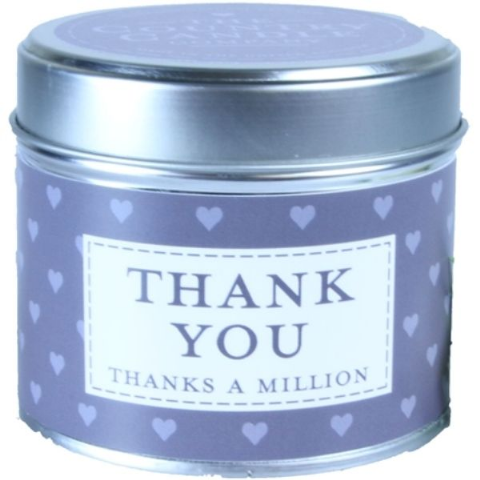 Thank You - Thanks A Million Candle In A Tin